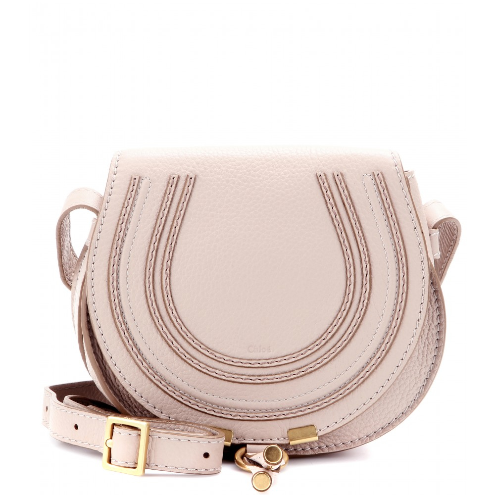 Chlo¨¦ Marcie Small Leather Shoulder Bag in Beige (rope beige) | Lyst