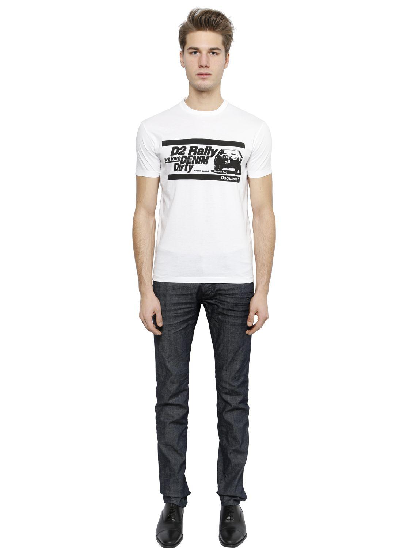 DSquared² 18cm Slim Fit Dark Stretch Denim Jeans in Blue for Men