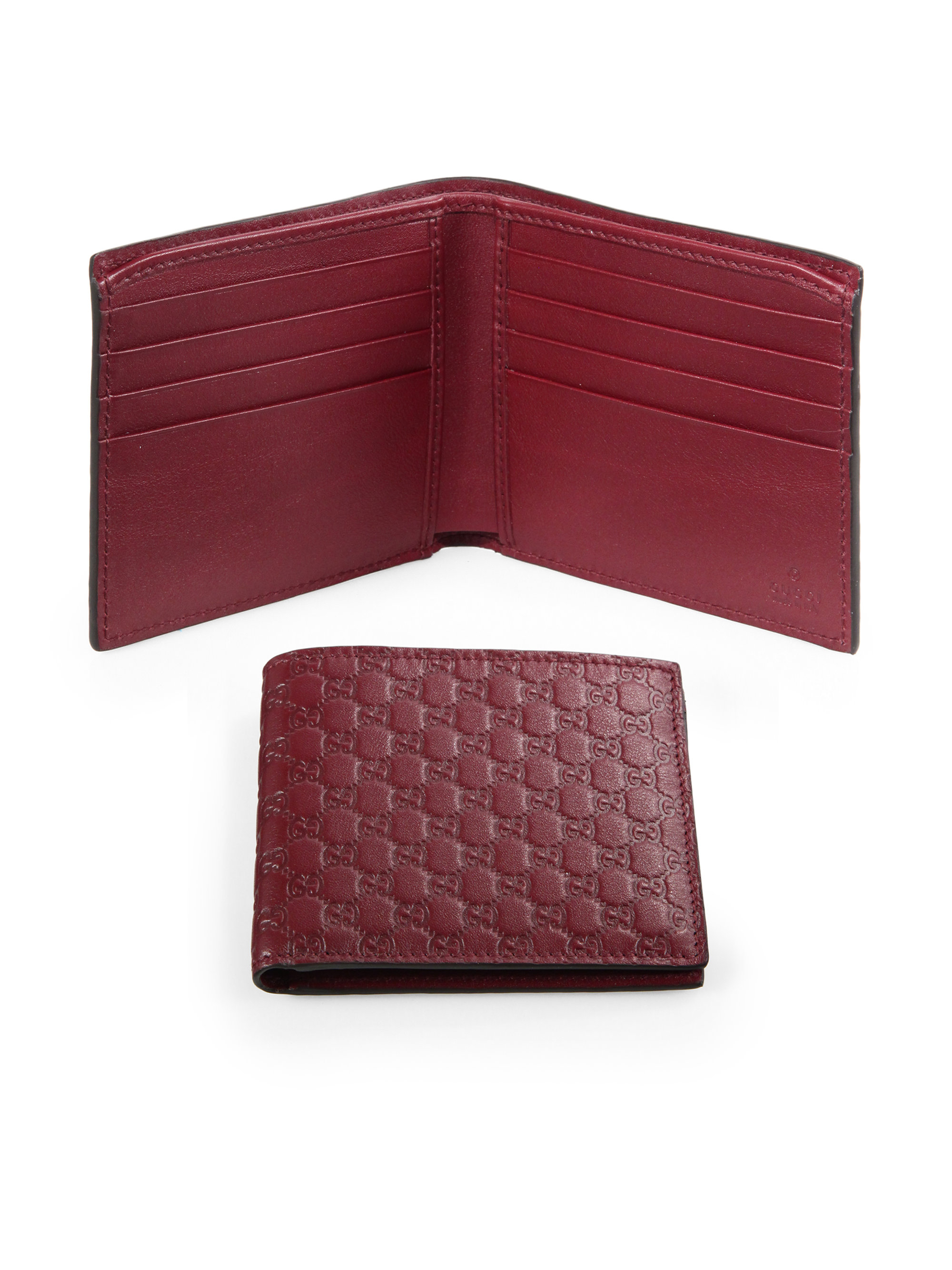 2ec82d9e172e Gucci Microssima Leather Wallet in Red for Men - Lyst