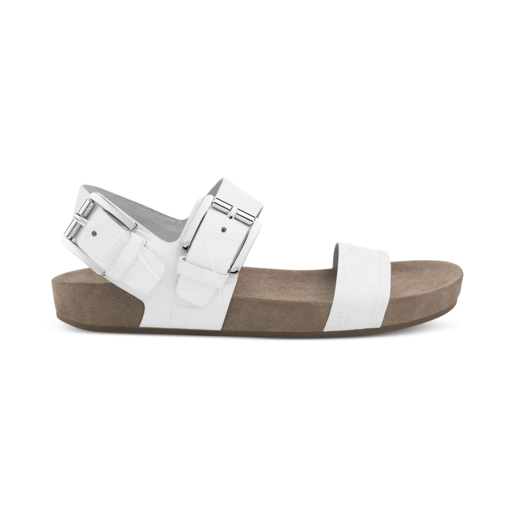 Lyst - Michael Kors Michael Sawyer Sandals in White