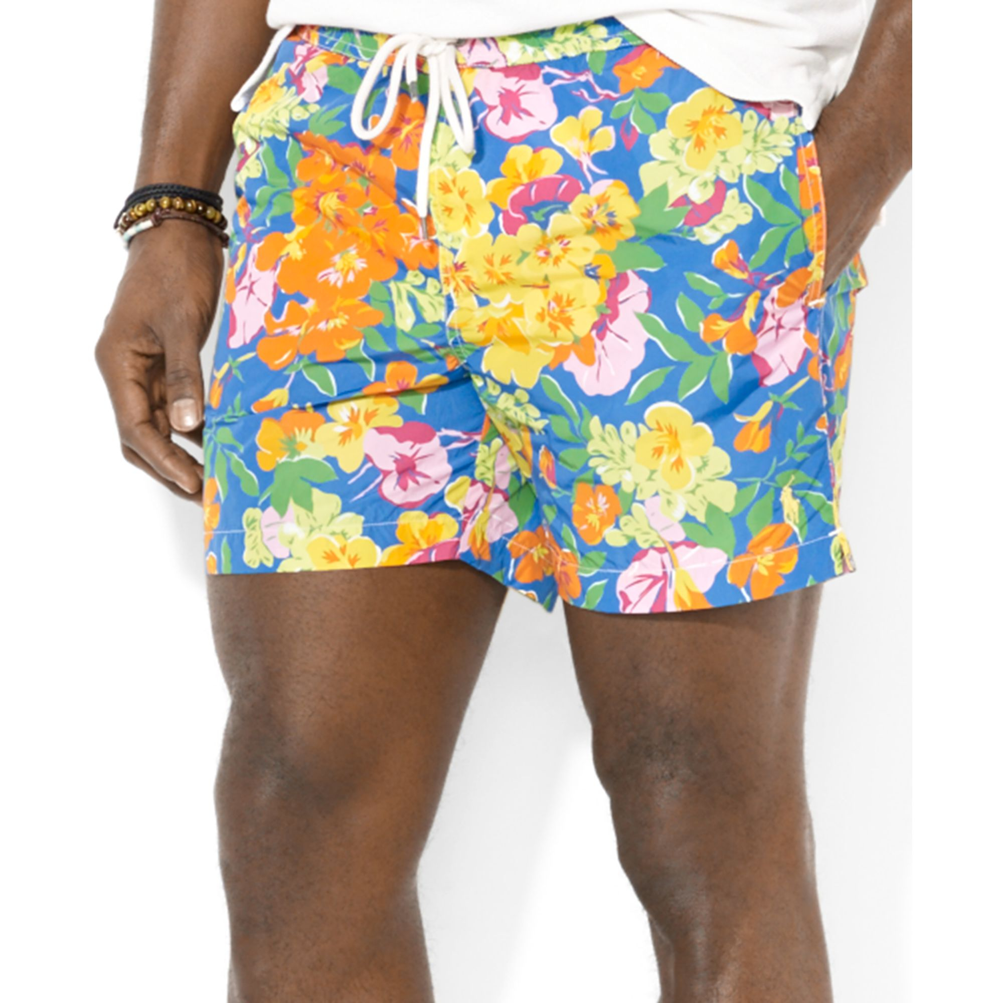53163484c0 Ralph Lauren Polo Big and Tall Floral Hawaiin Boxer Swim Trunk for ...