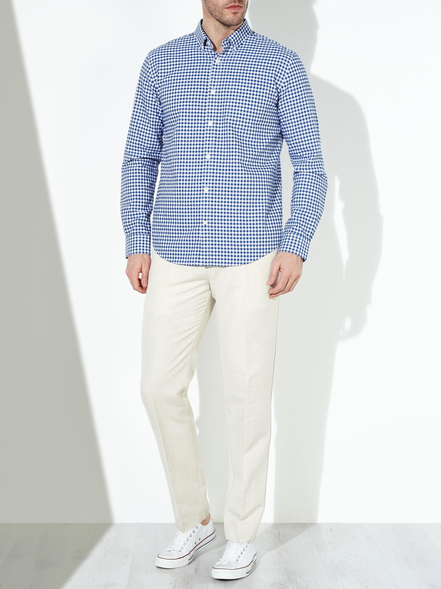 John Lewis Linen Slim Fit Trousers in Natural for Men