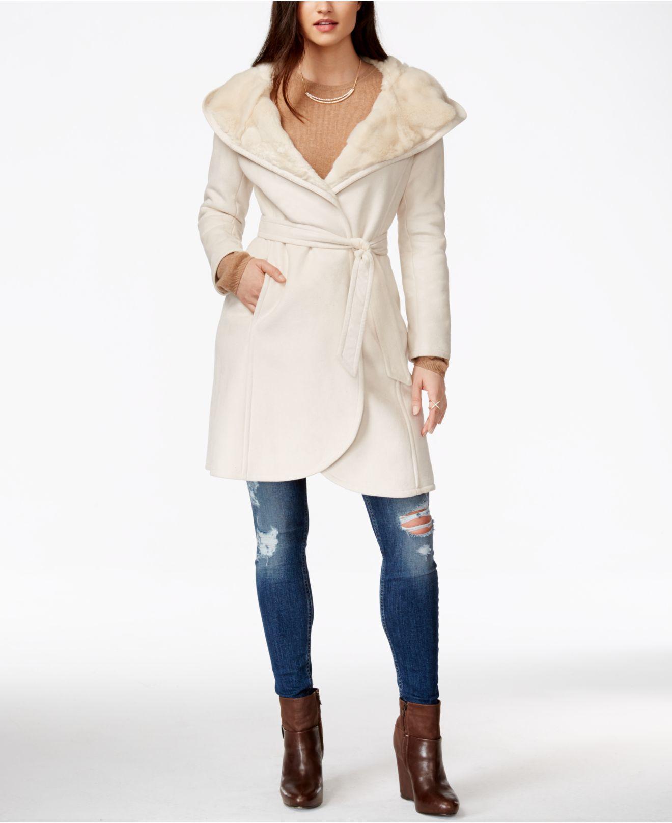 Faux Shearling Long Coat | Down Coat