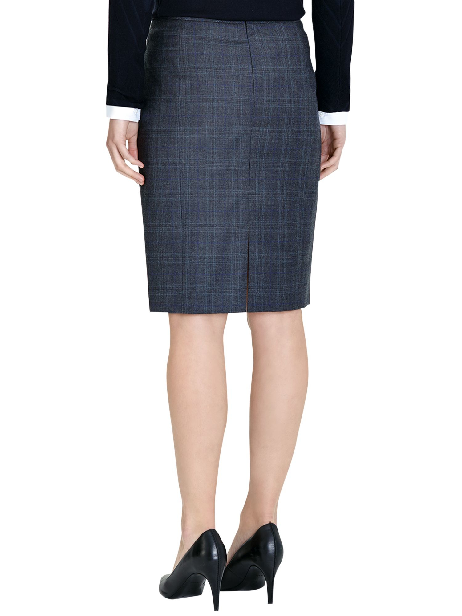 Austin Reed Signature Blue Check Pencil Skirt Lyst
