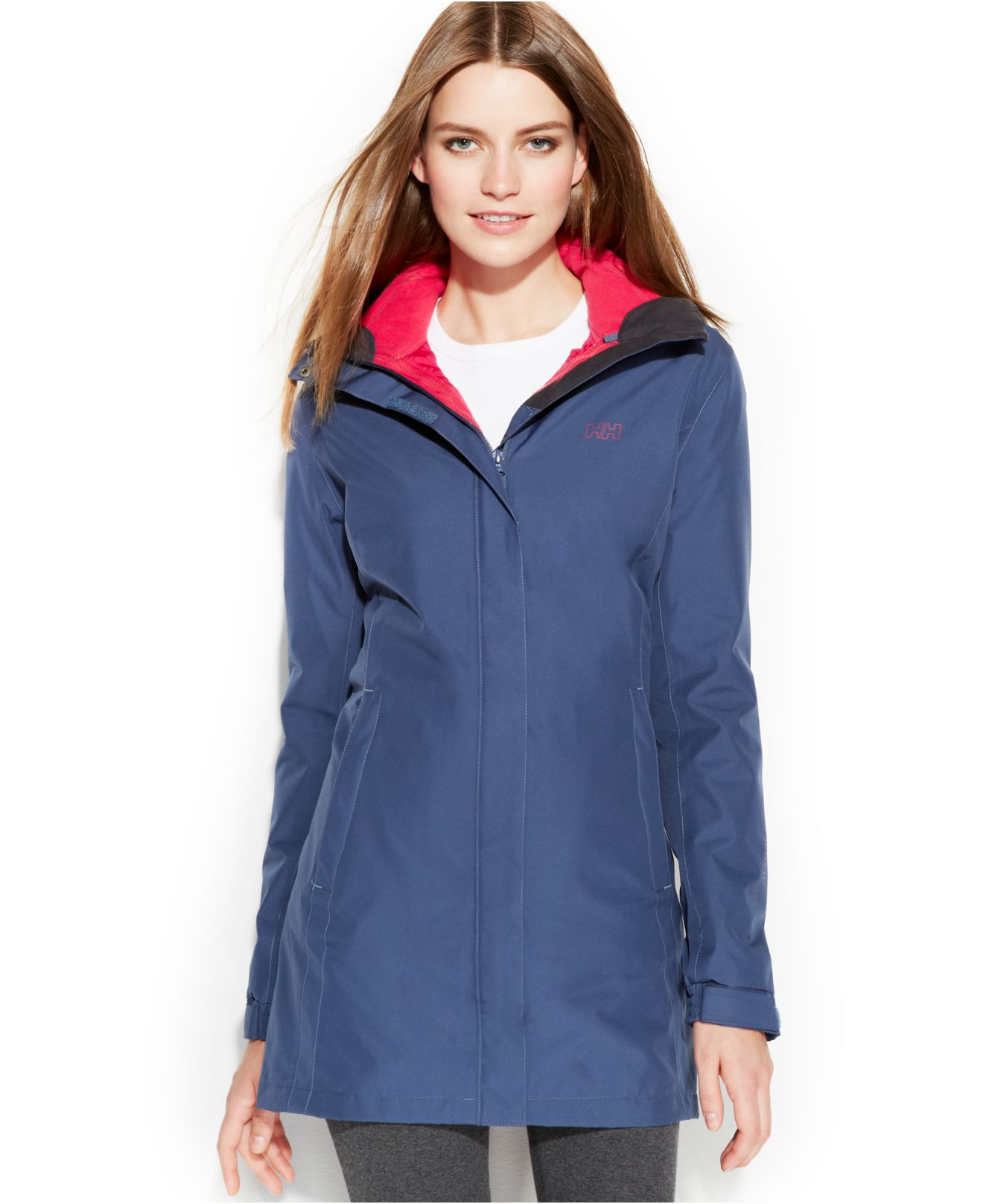thoughts on info for amazing quality Helly Hansen Aden Long Hooded Raincoat in Deep Steel (Blue ...
