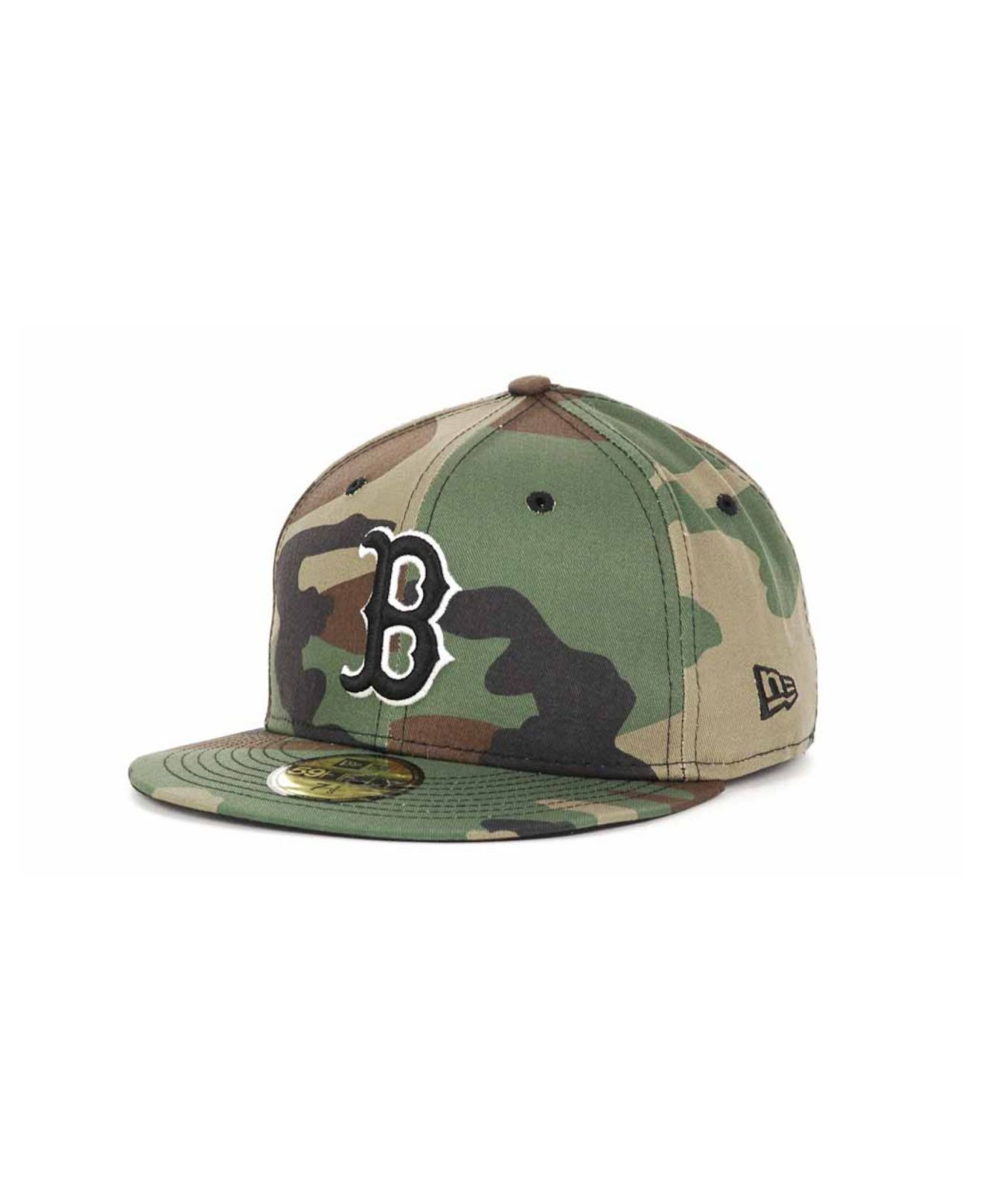 lyst ktz boston red sox bc camo 59fifty cap in green for men. Black Bedroom Furniture Sets. Home Design Ideas