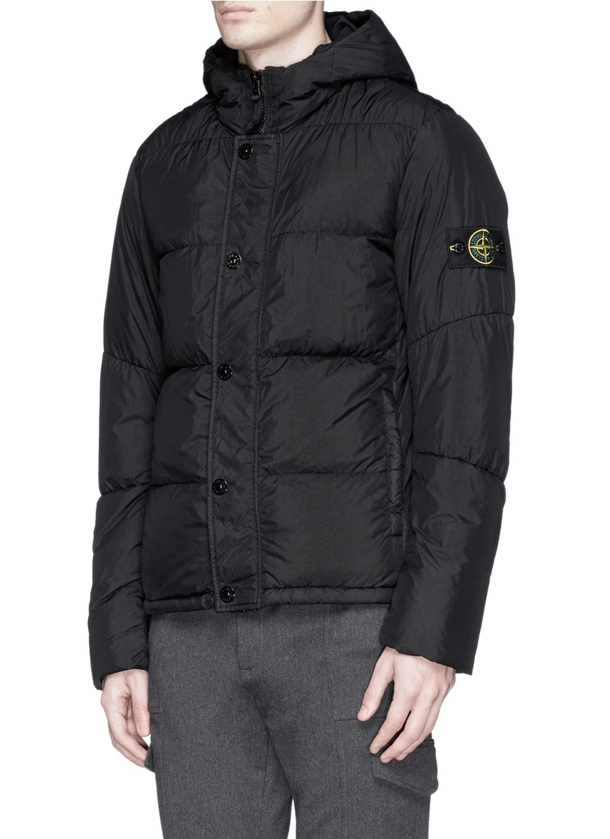 Stone Island Crinkle Reps Water Resistant Quilted Jacket