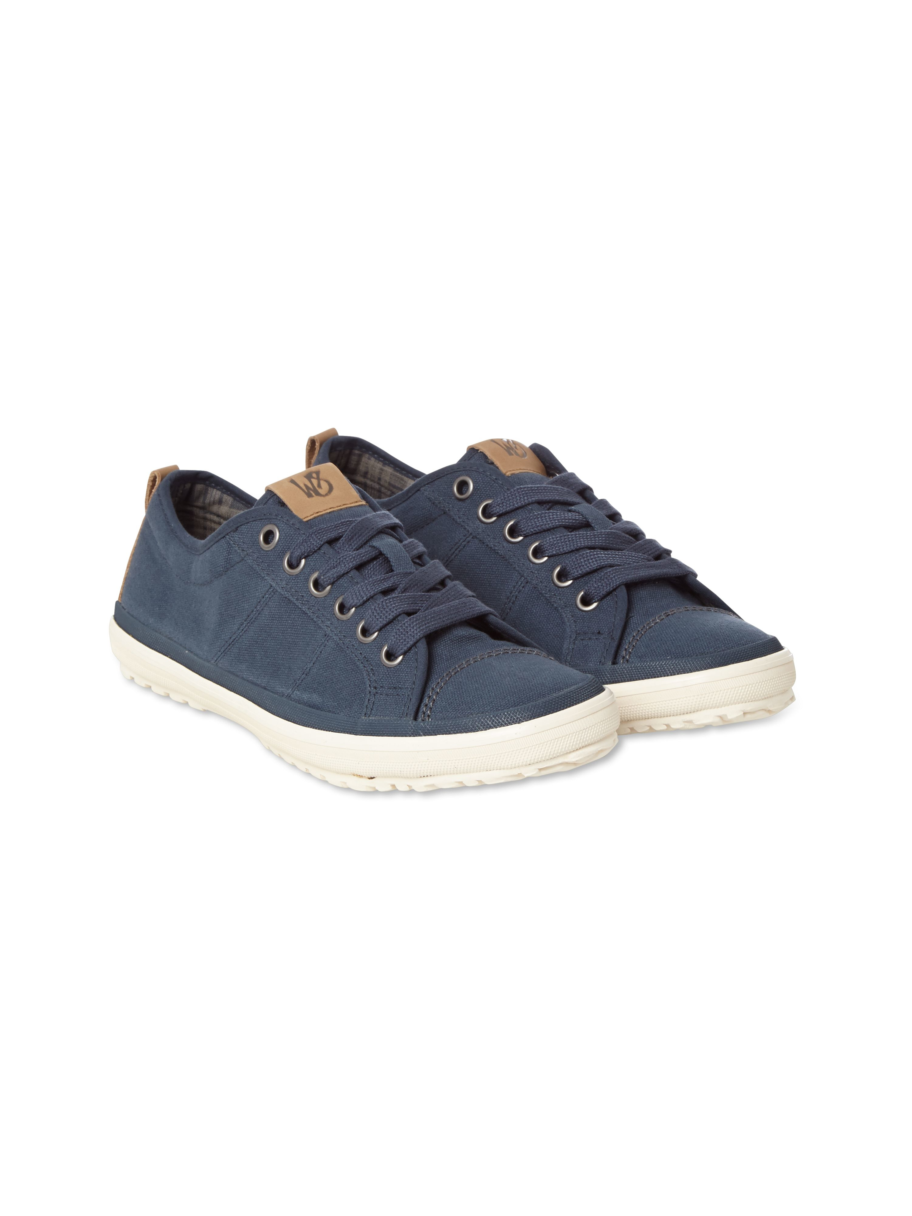 white stuff lace up casual trainers in blue for lyst