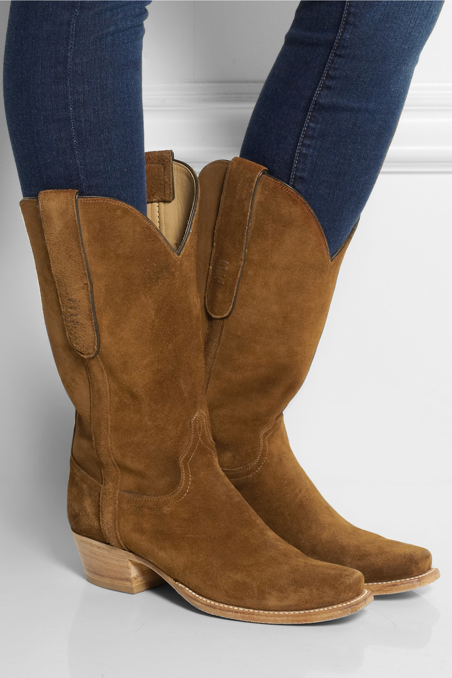 Lyst Lucchese Romia Suede Western Boots In Brown