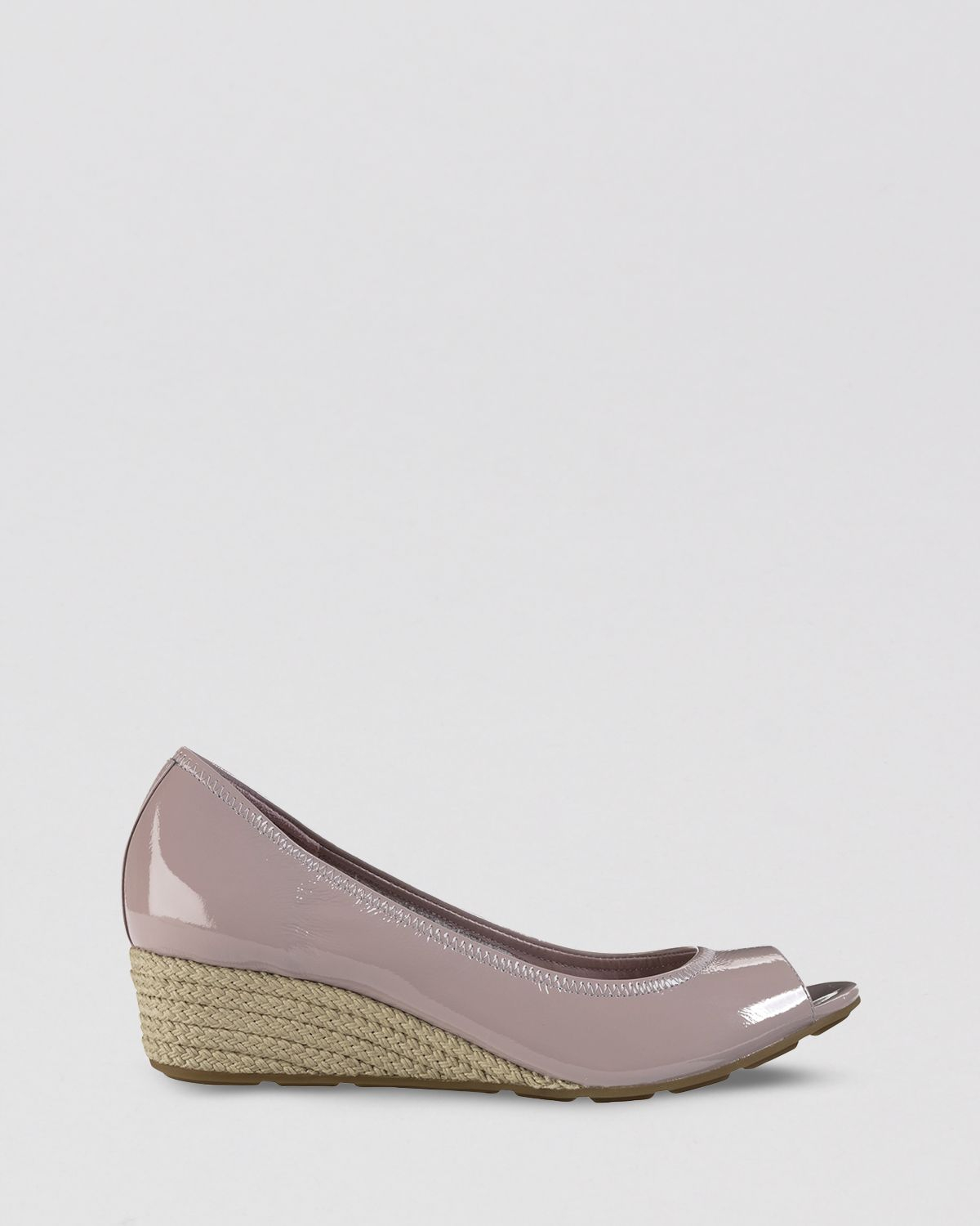 568a40a92027 Lyst - Cole Haan Open Toe Wedge Pumps Air Tali in Gray