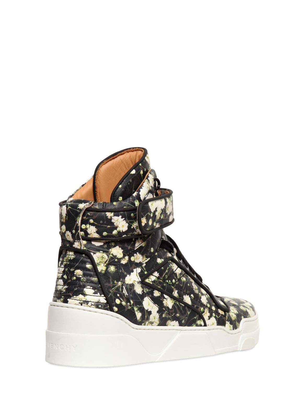 Lyst Givenchy Tyson Floral Leather High Top Sneakers In