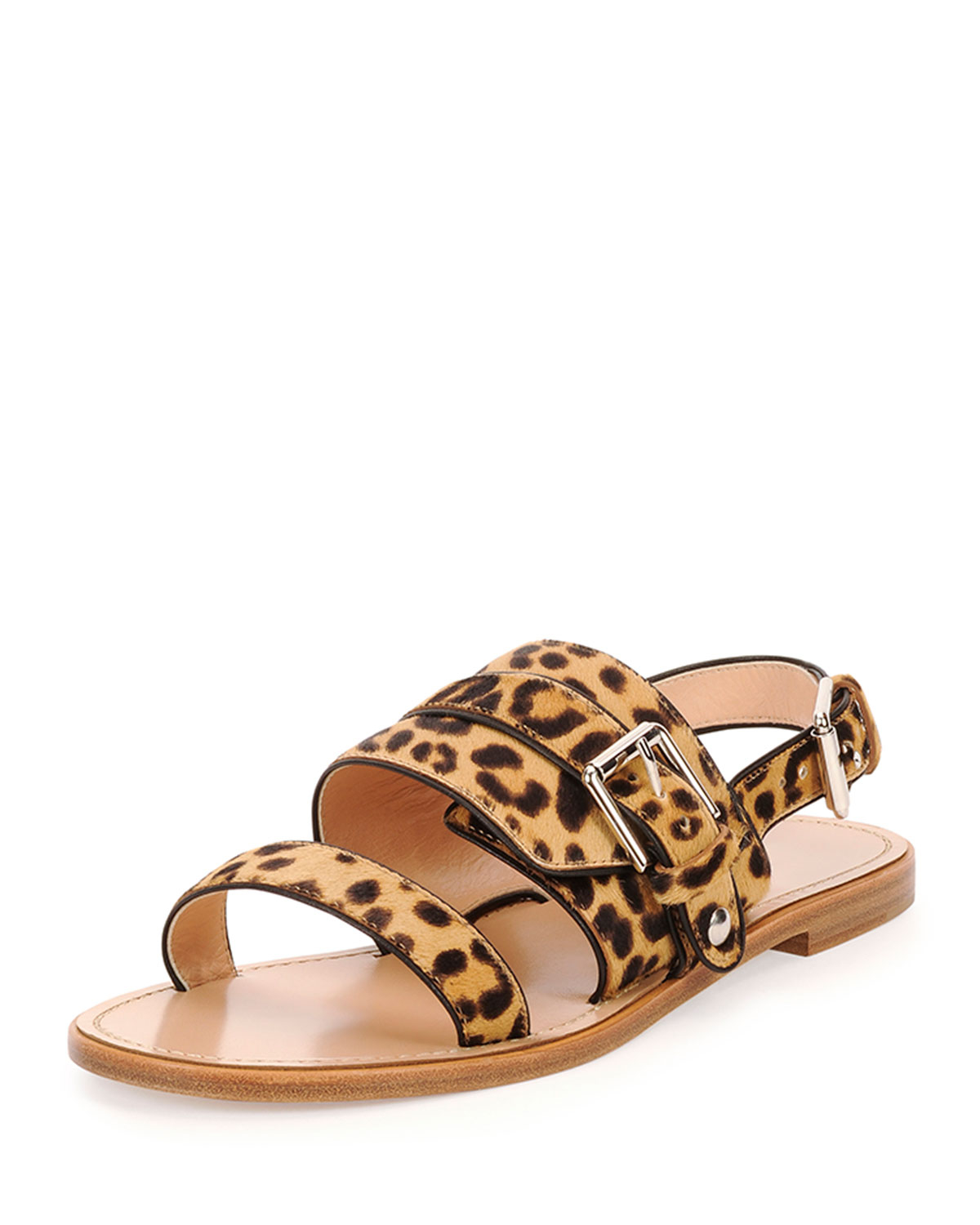 Lyst Gianvito Rossi Double Band Leopard Print Flat