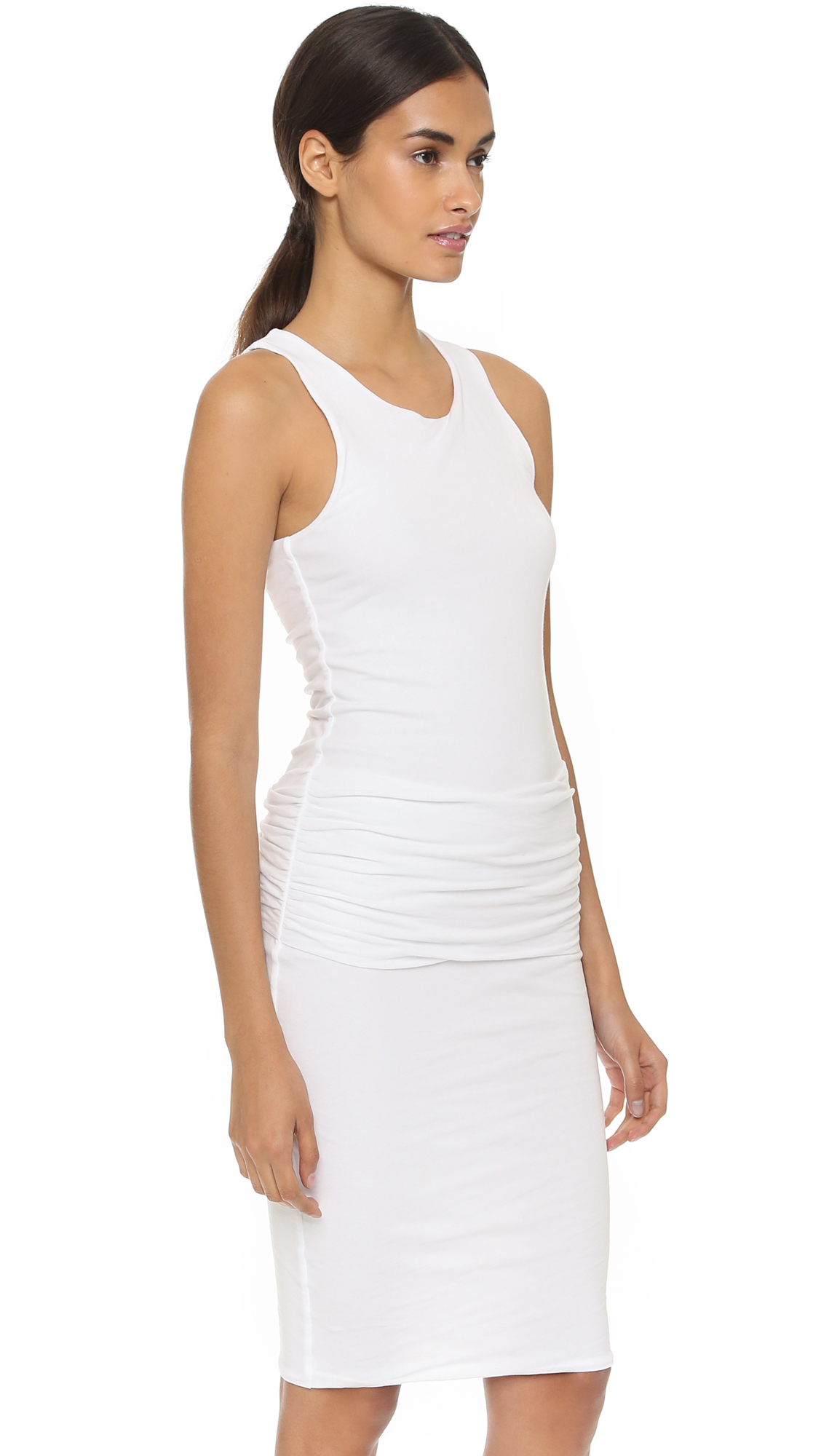 7e3222f449 James perse Ruched Tank Dress in White
