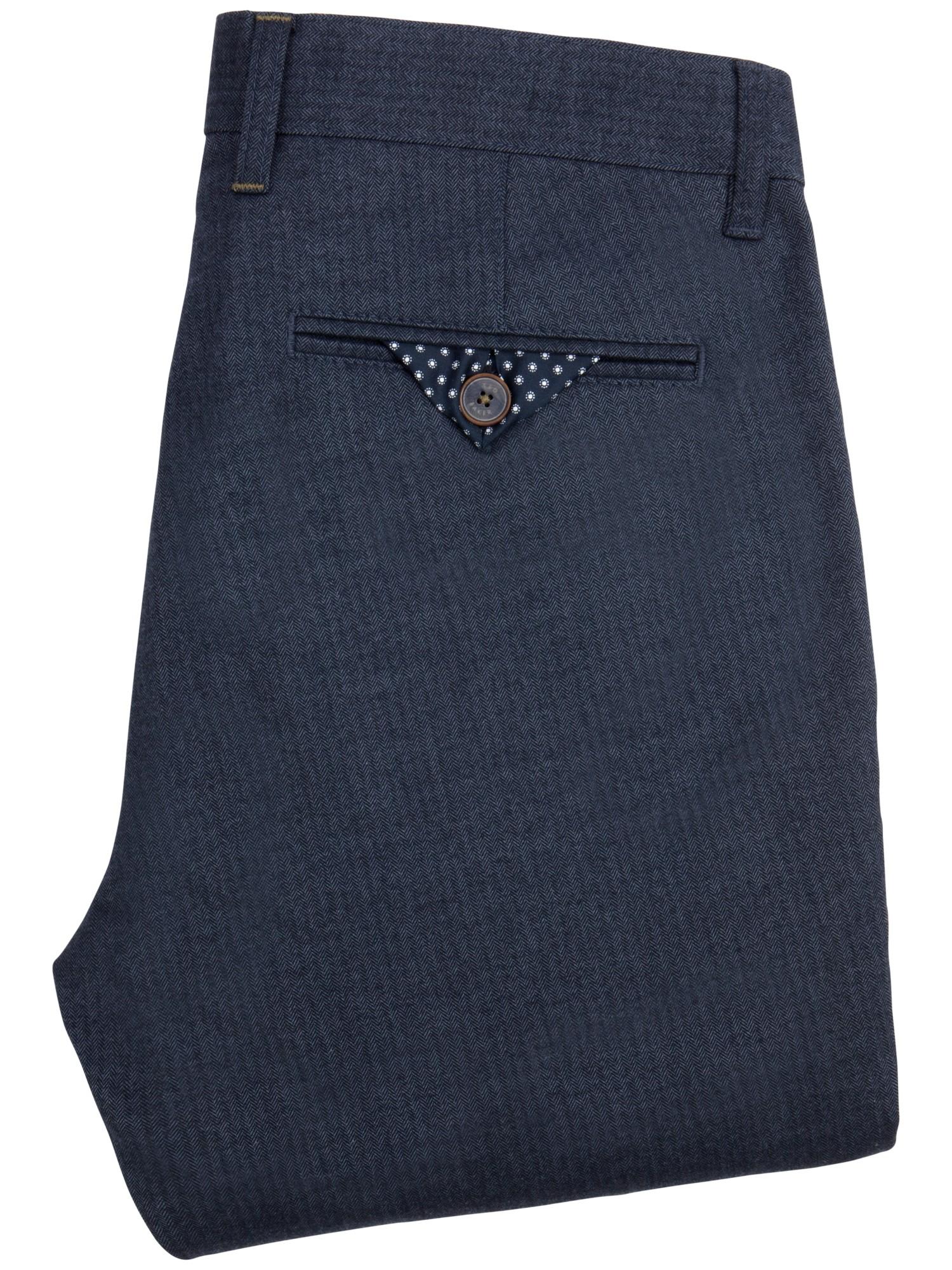 483b5a4cf2a33d Ted Baker Deerchi Slim Fit Herringbone Trousers in Blue for Men - Lyst