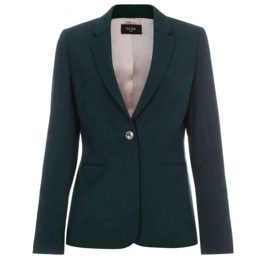 Paul smith Women's Dark Green Wool Blazer in Green | Lyst