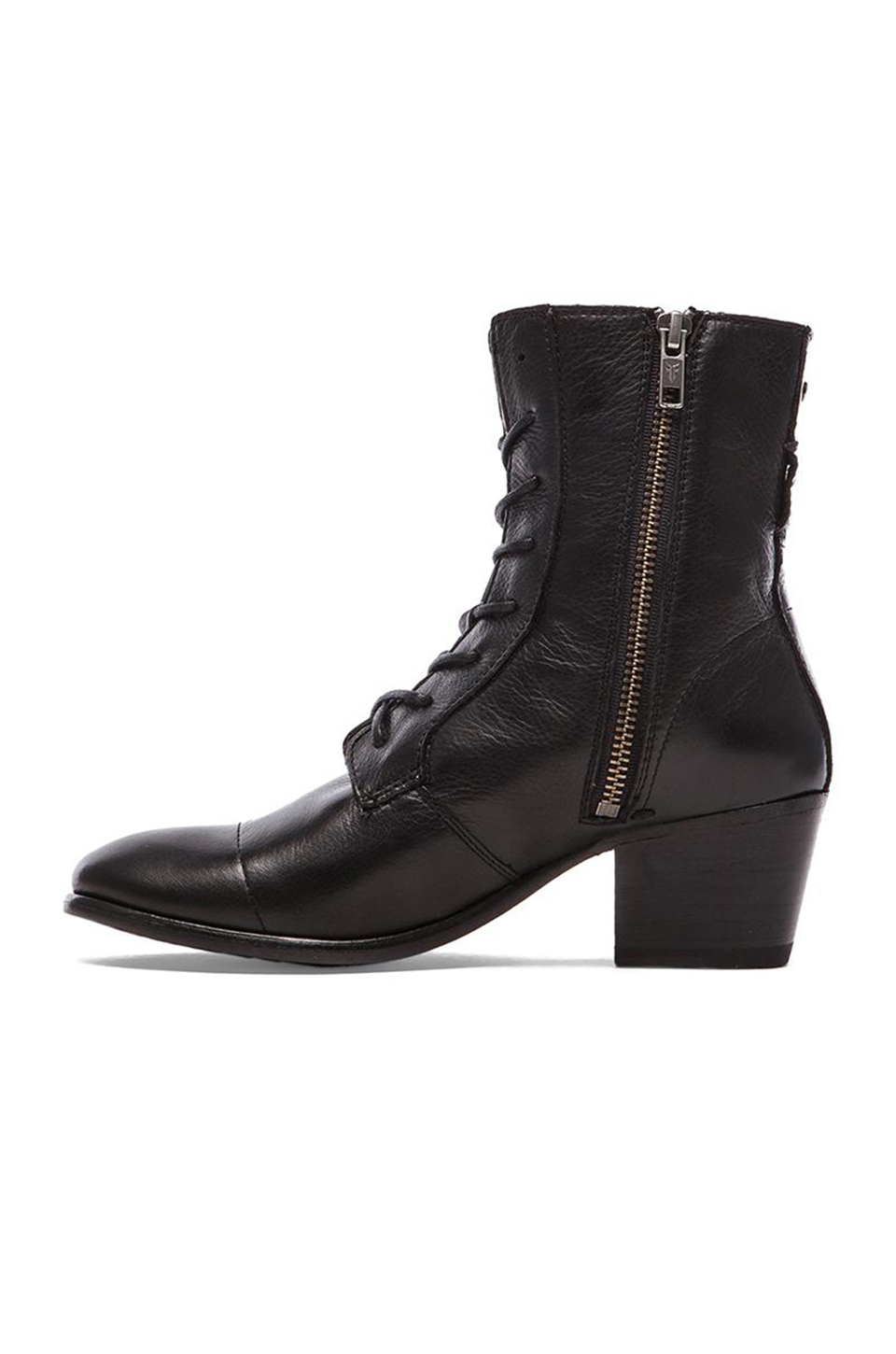 Lyst Frye Courtney Lace Up Boot In Black