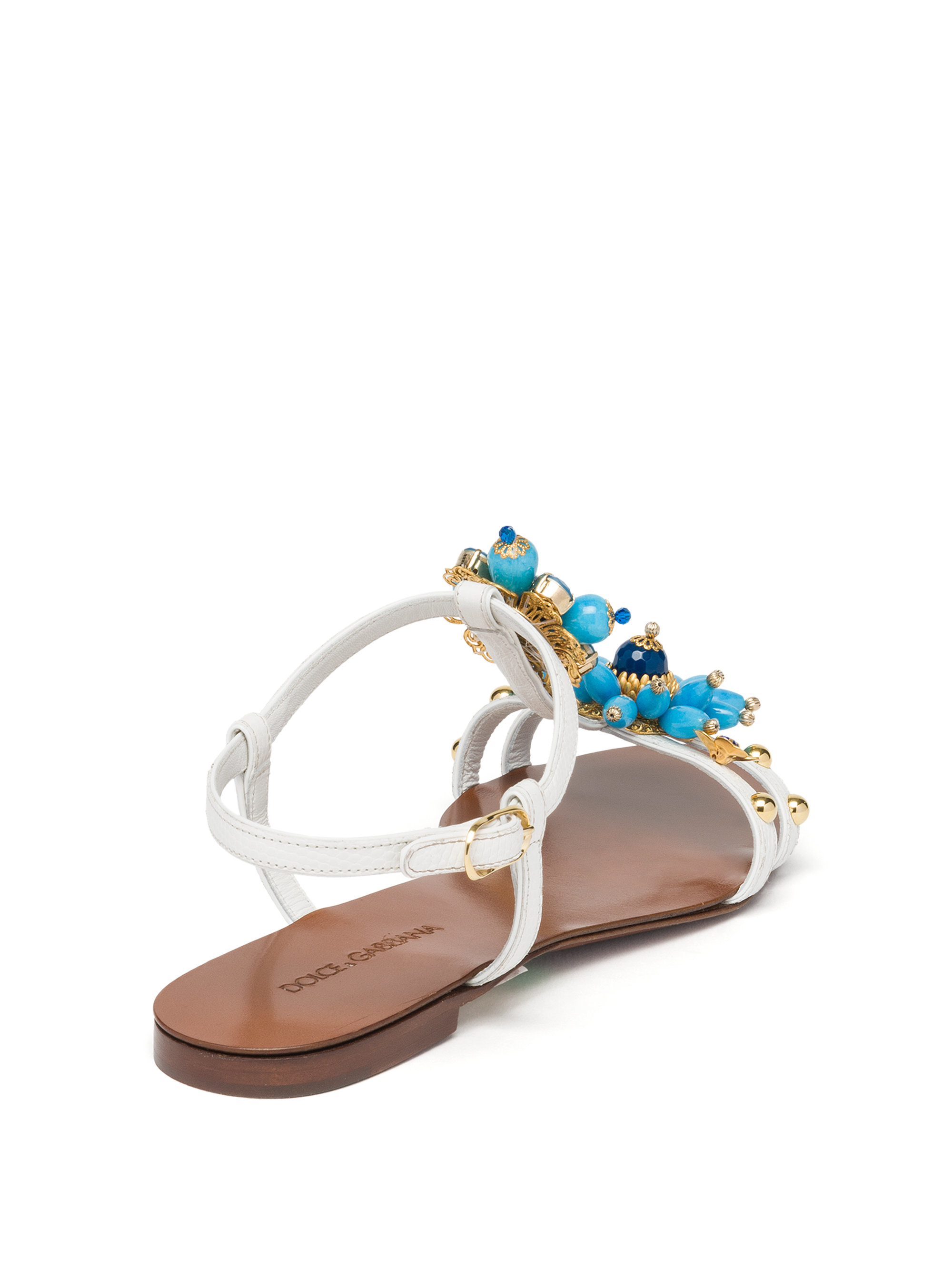 Dolce & Gabbana Leather Thong Sandals purchase sale online clearance cheap online clearance choice ZtLXX