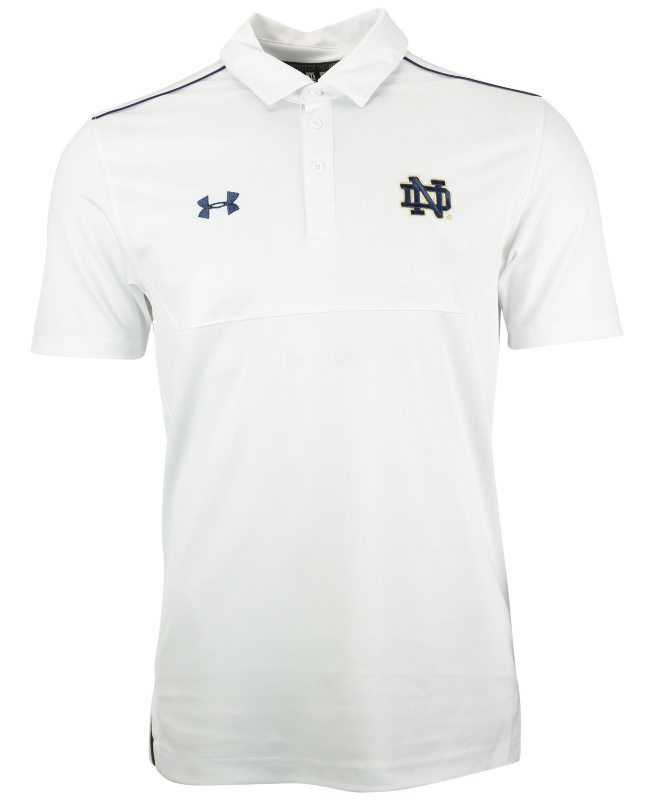 16138bac Under Armour White Men's Notre Dame Fighting Irish Ultimate Sideline Polo  for men
