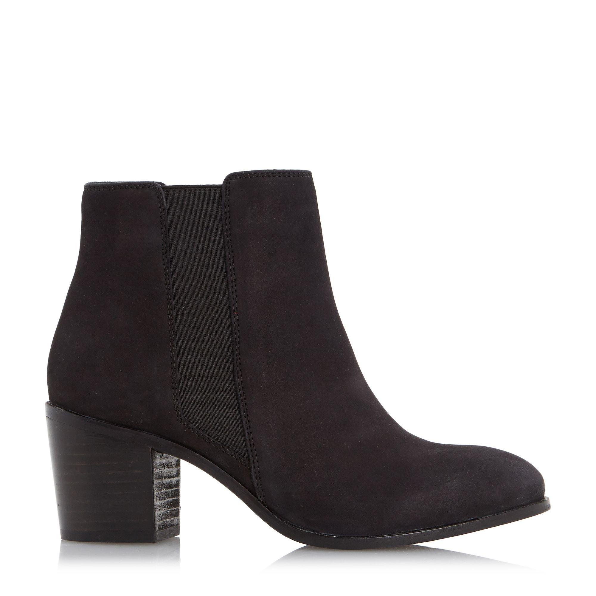 dune peonie mid heel chelsea boots in black lyst
