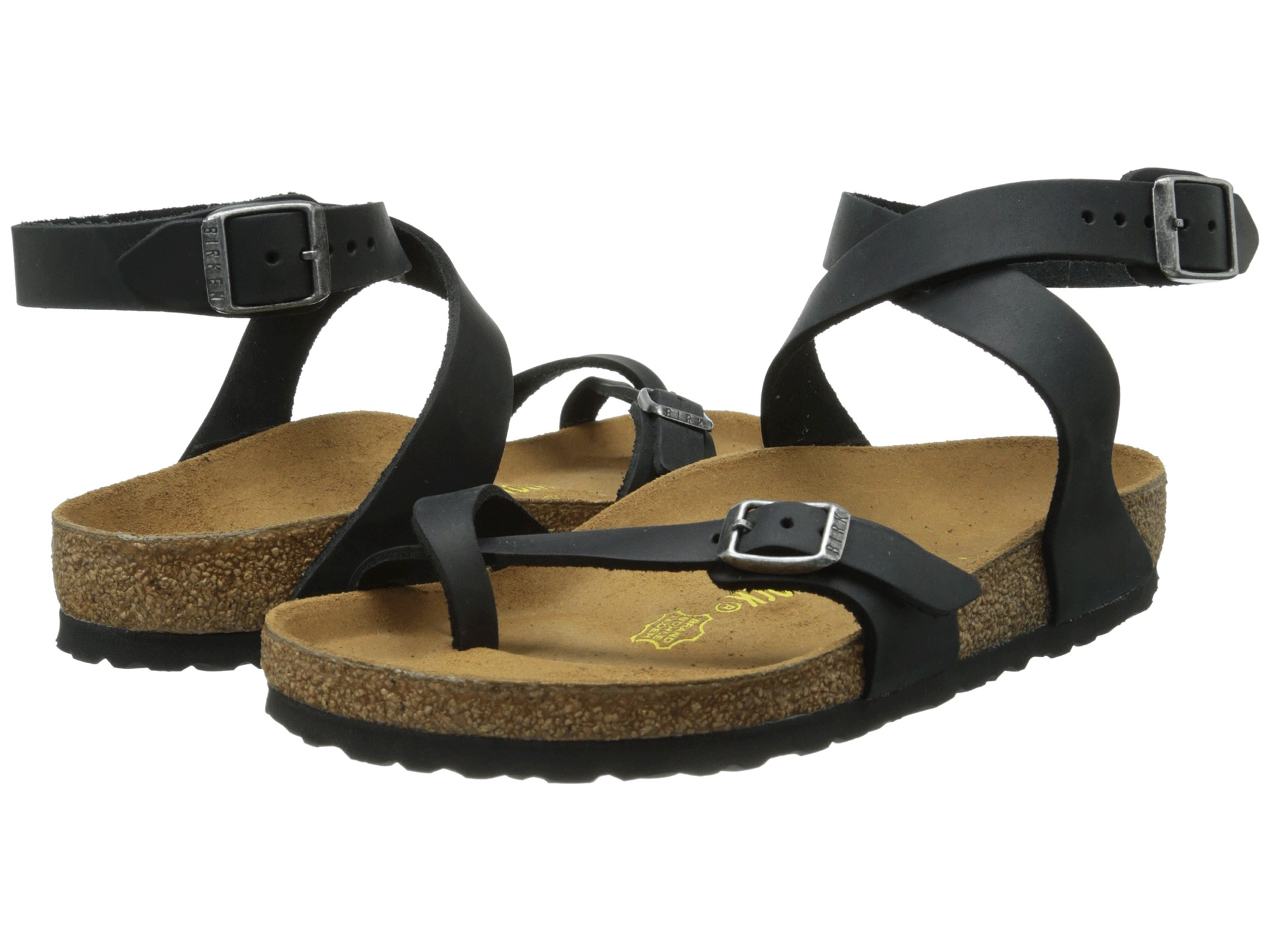 06551468dba6 Lyst - Birkenstock Yara Oiled Leather in Black
