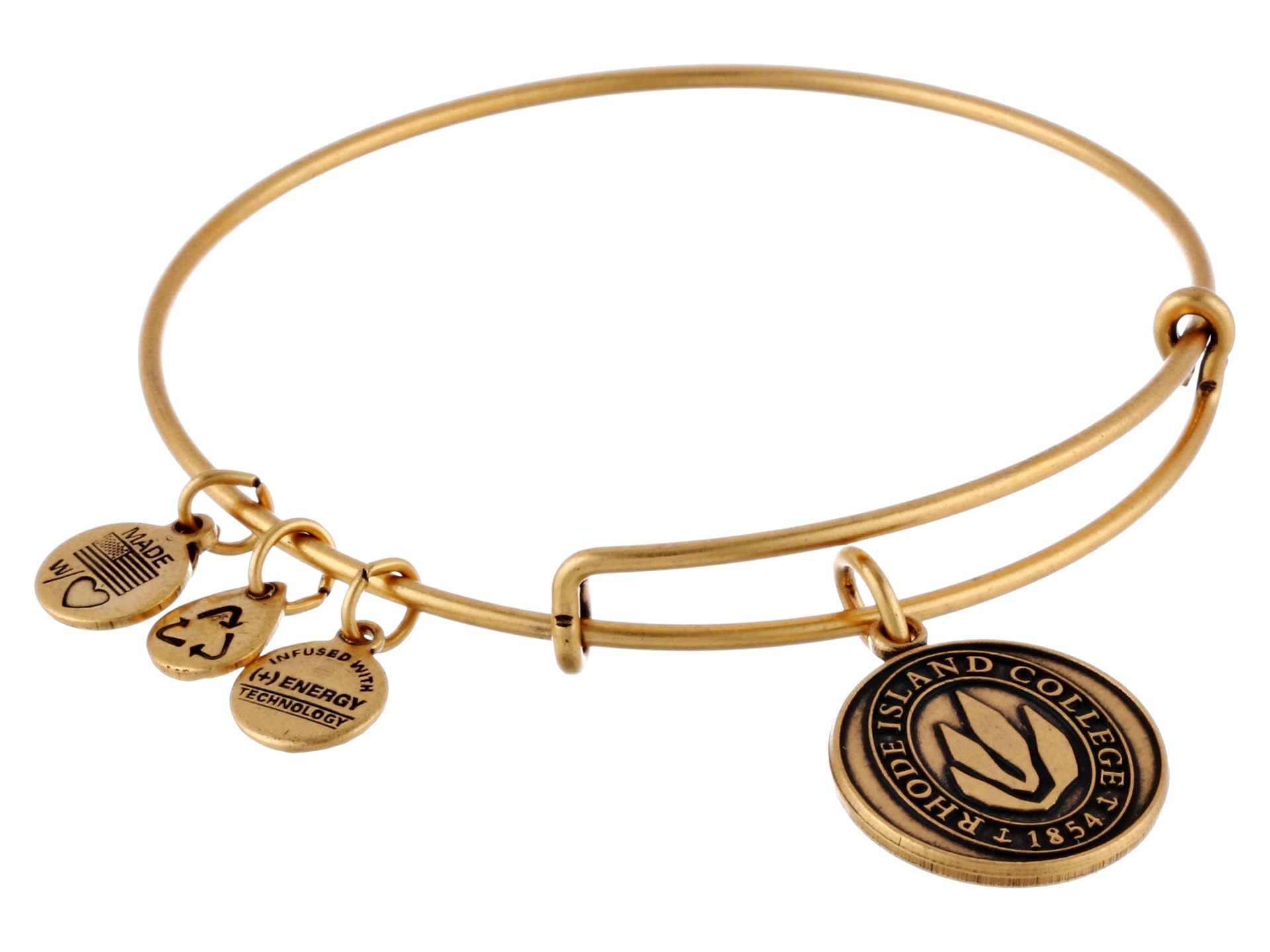 Alex and ani Rhode Island College® Logo Charm Bangle in ...