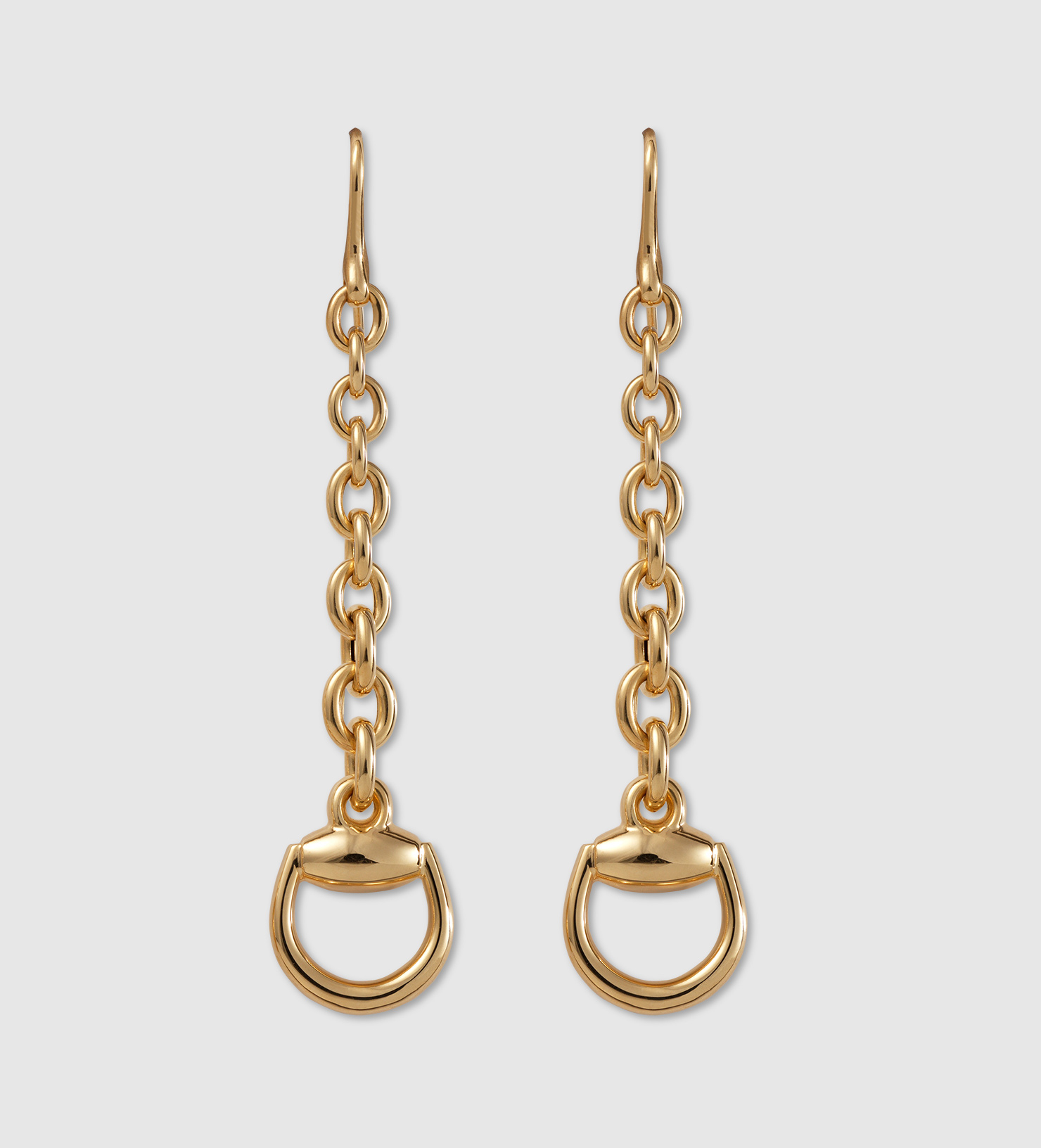 2f45f9023 Gucci Horsebit Earrings In Yellow Gold in Yellow - Lyst