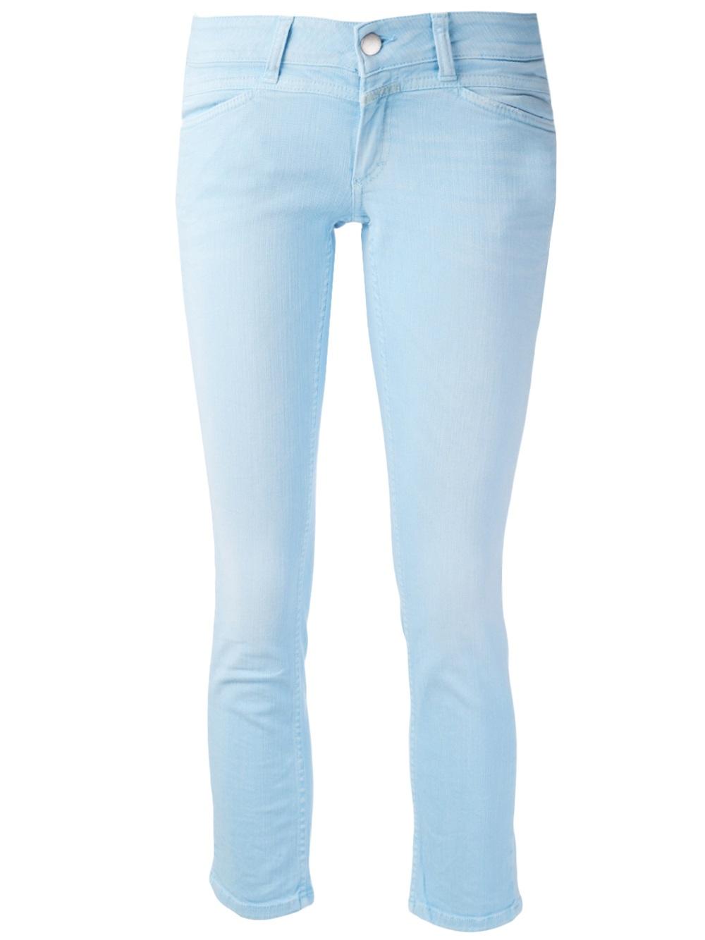 closed starlet cropped jeans in blue lyst. Black Bedroom Furniture Sets. Home Design Ideas