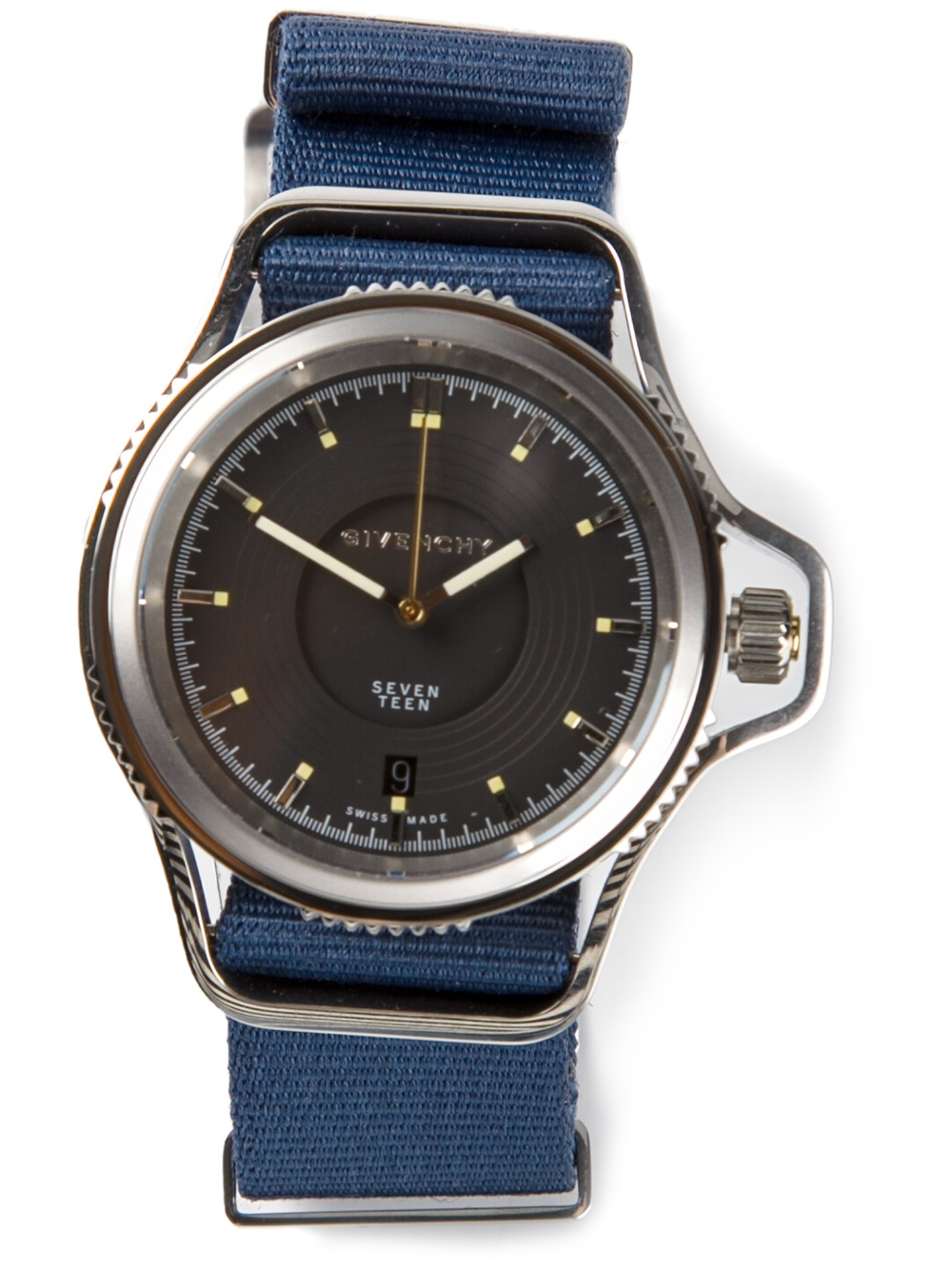 Givenchy 39 seventeen 39 watch in blue for men lyst for Givenchy watches