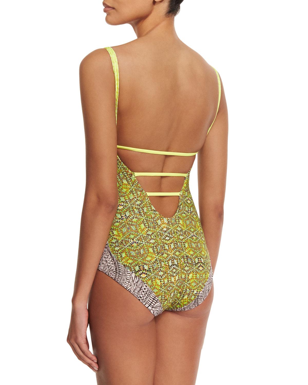 a9786e94621 Maaji Walk The Dock Reversible One-piece Swimsuit - Lyst