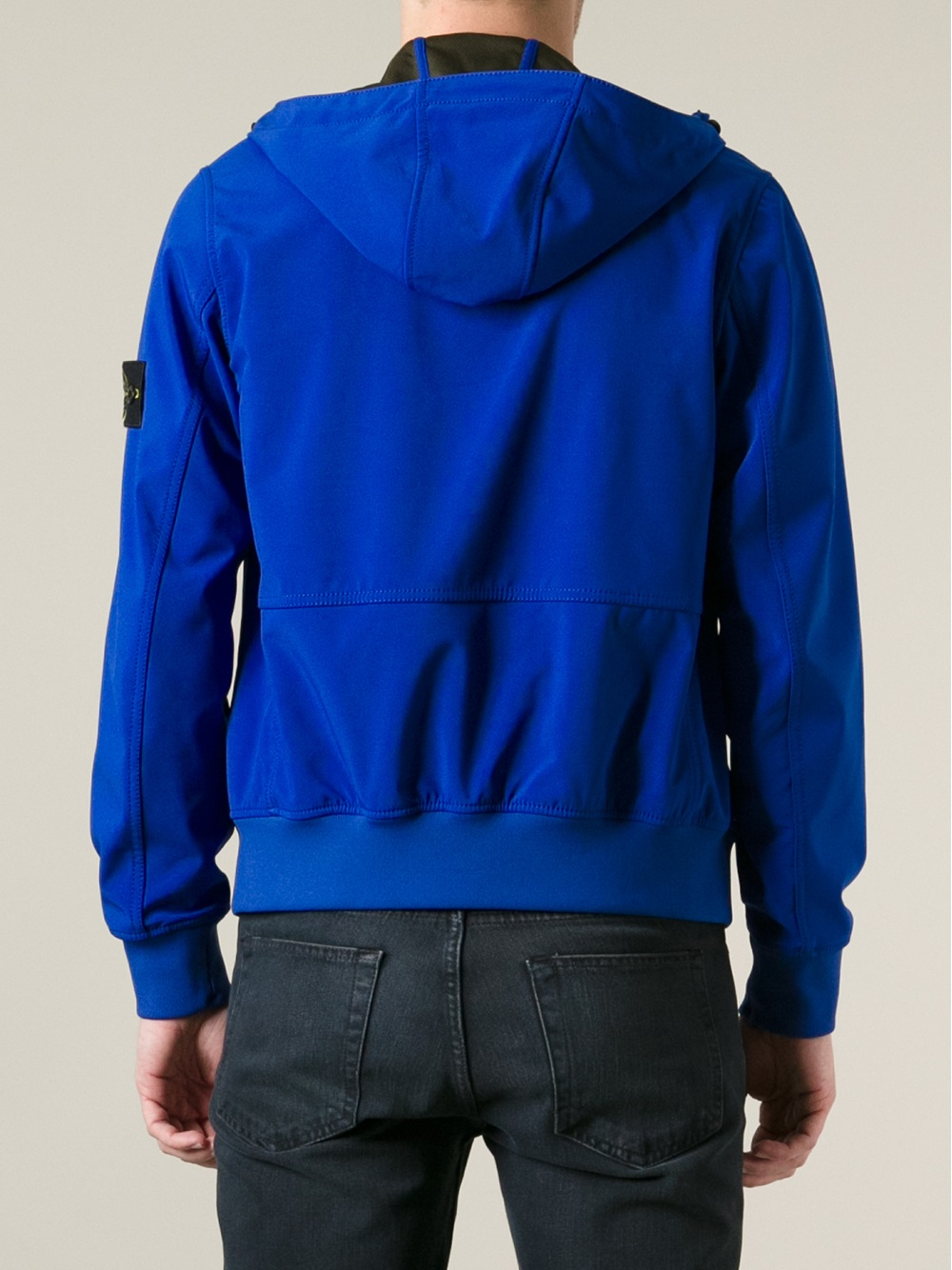 Lyst Stone Island Soft Shell Jacket In Blue For Men