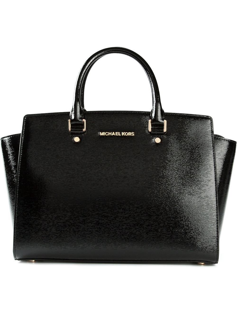 michael michael kors medium 39 selma 39 satchel in black lyst. Black Bedroom Furniture Sets. Home Design Ideas