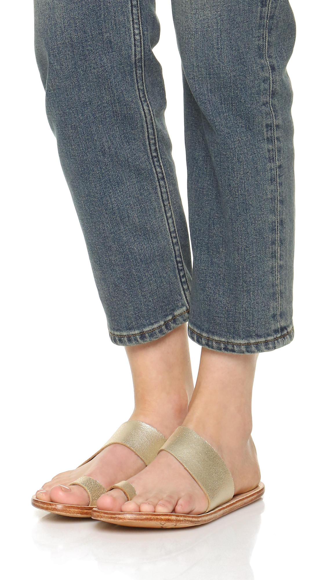 Beek Finch Toe Ring Sandals In Natural Lyst