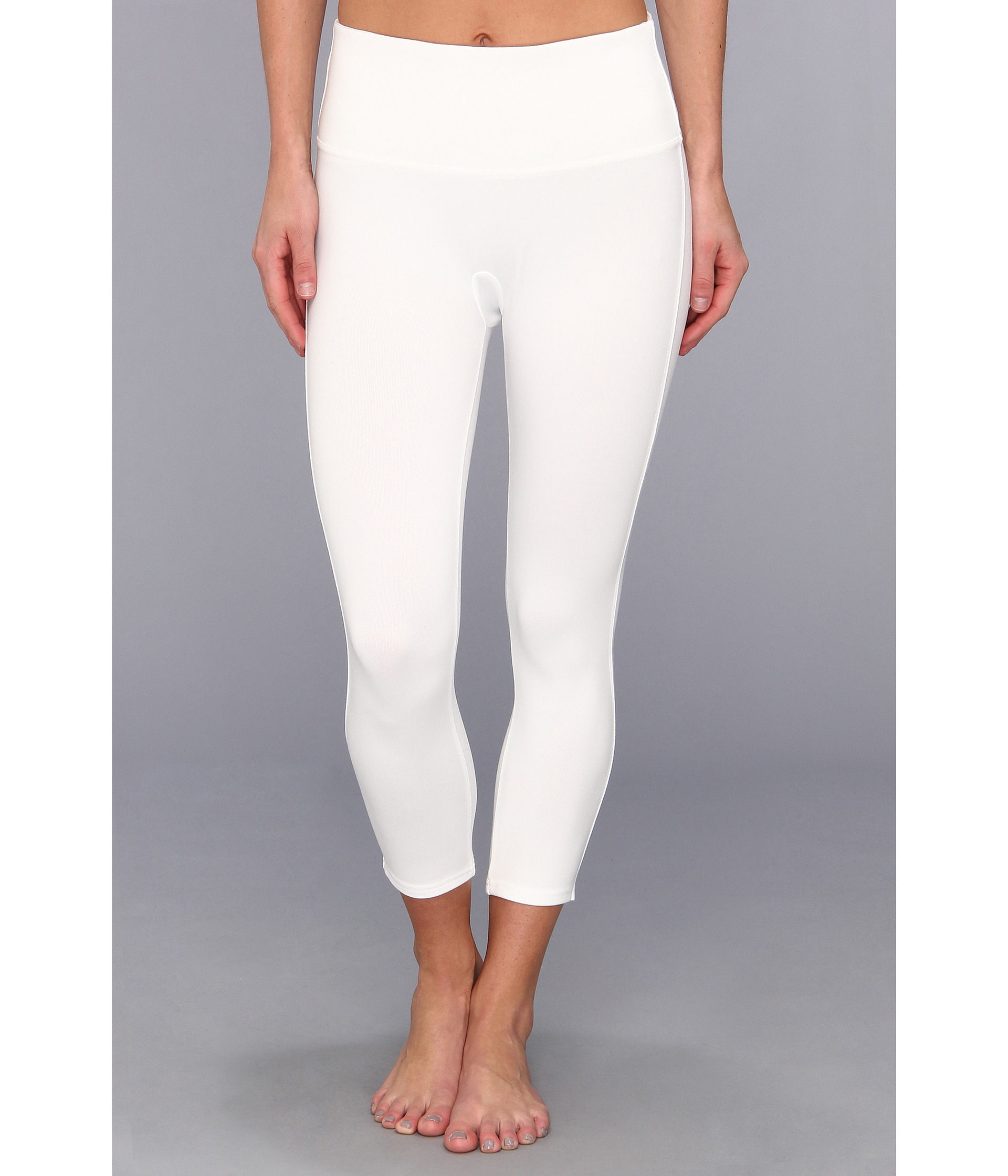 Spanx Ready To Wow Capri Structured Leggings In White Lyst