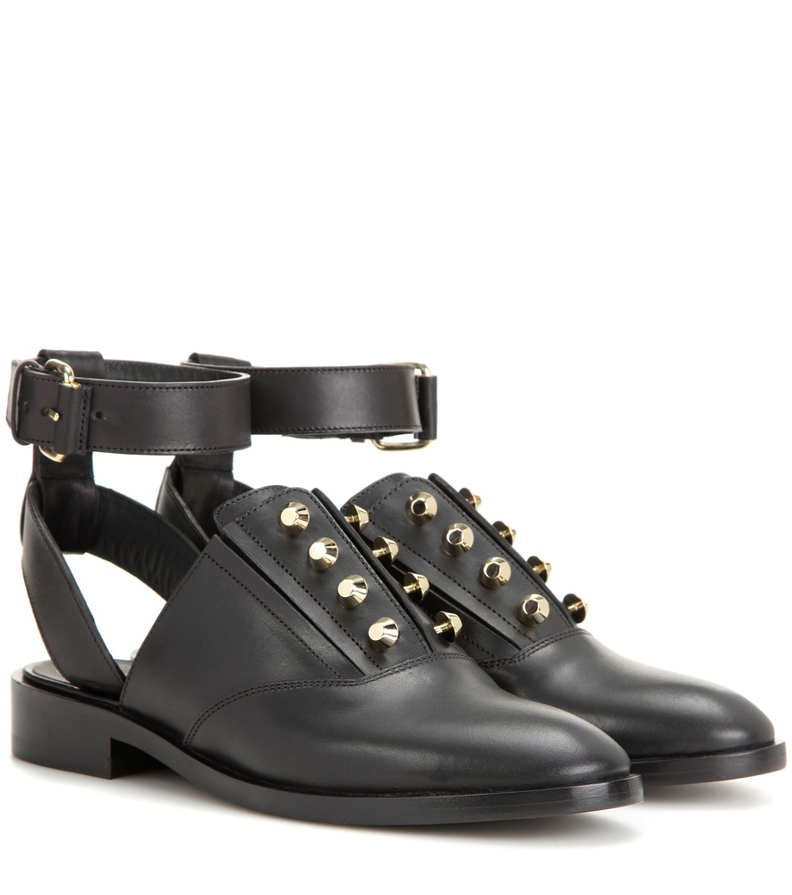Lyst Balenciaga Pierce Open Back Leather Oxford Shoes In