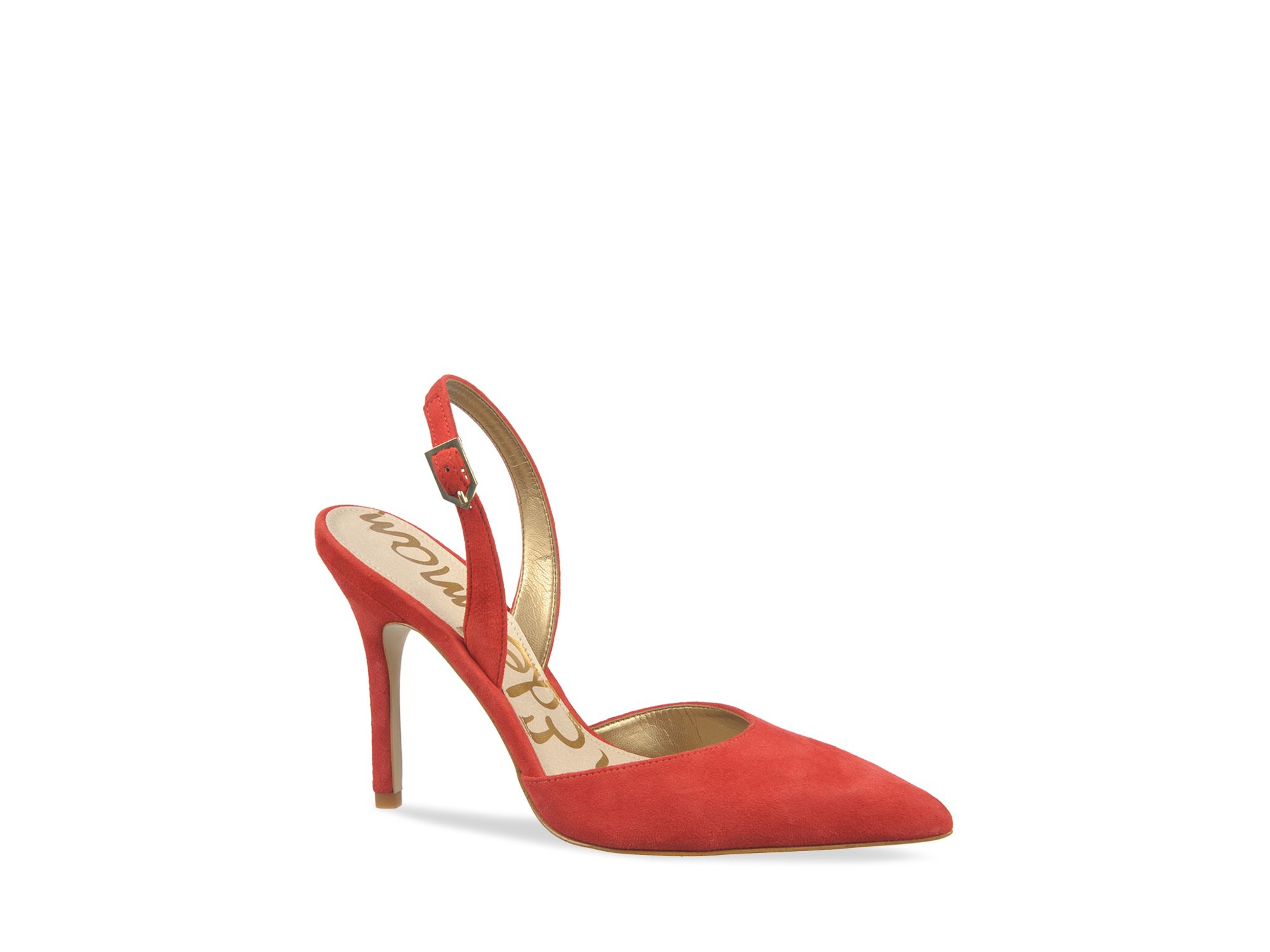 a922539fb0eac4 Lyst - Sam Edelman Slingback Pumps - Dora Pointed Toe in Red