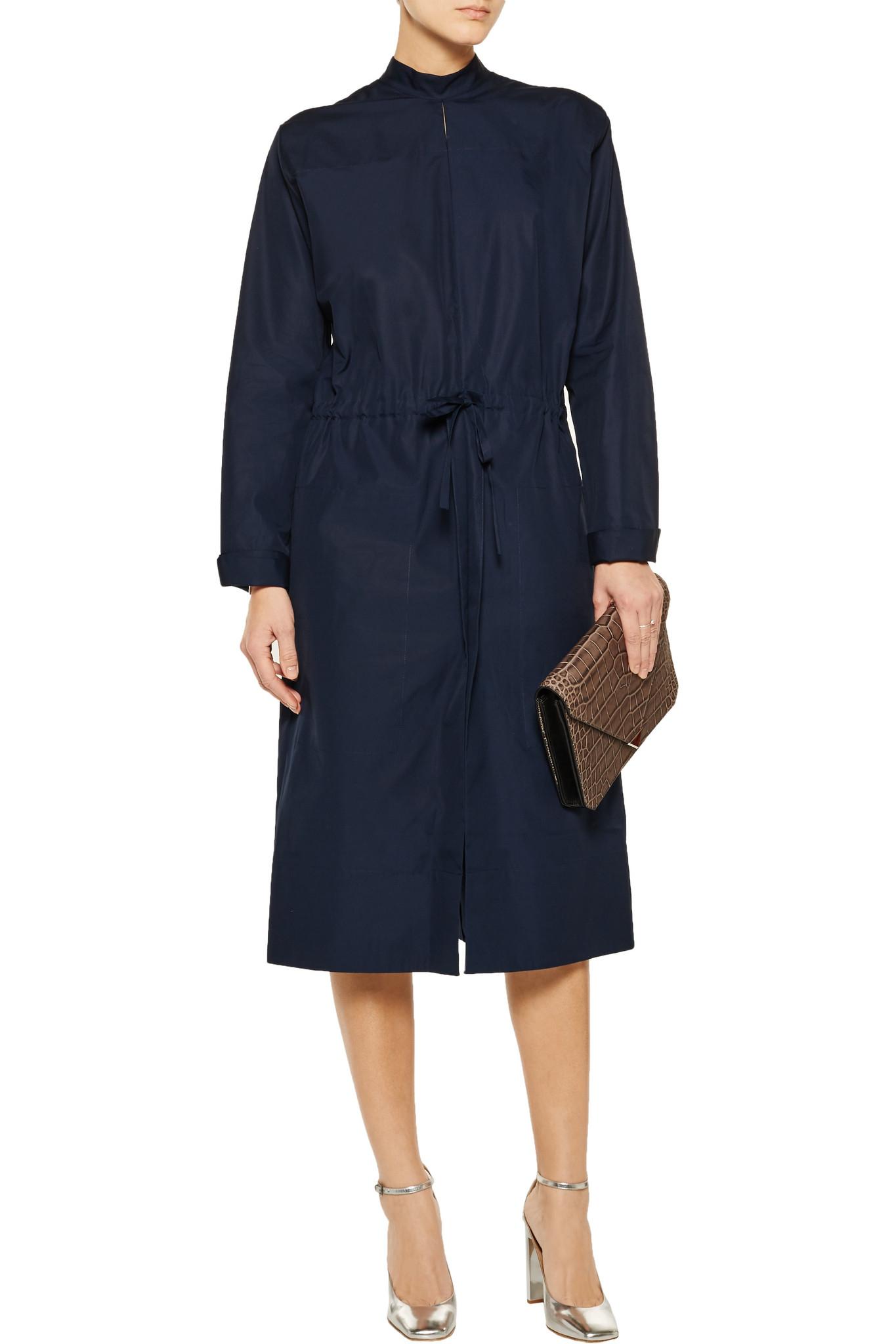 Jil sander Cotton-poplin Dress in Blue
