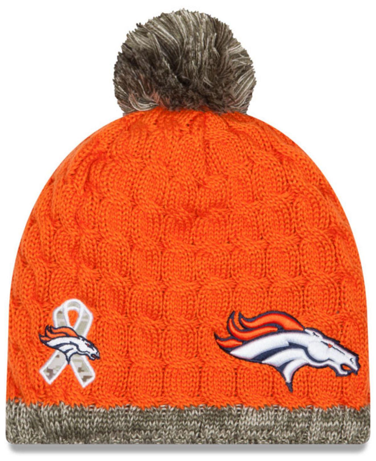 ... get lyst ktz womens denver broncos salute to service knit hat for men  e7e95 3b2e7 ac6819899