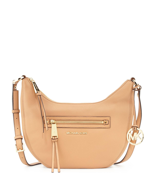f418b1172da8 Lyst - MICHAEL Michael Kors Rhea Small Zip Messenger Bag in Orange
