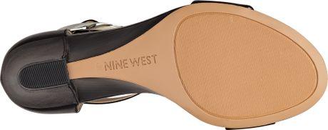 Nine West Ventana Sandal in Black (BLACK/BLACK LEATHER)