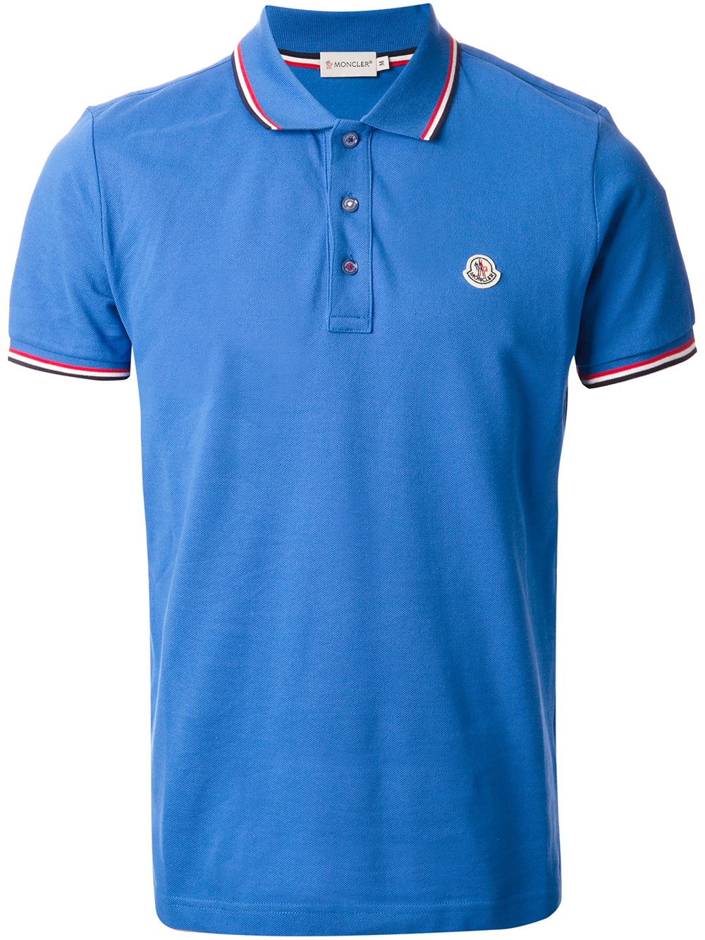 moncler blue polo shirt
