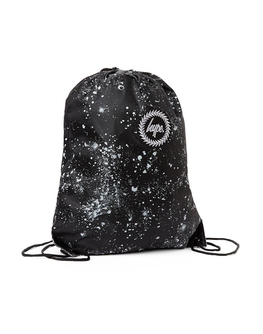 Hype Speckle Drawstring Bag - Black in Black for Men - Lyst 920d0beca3f81