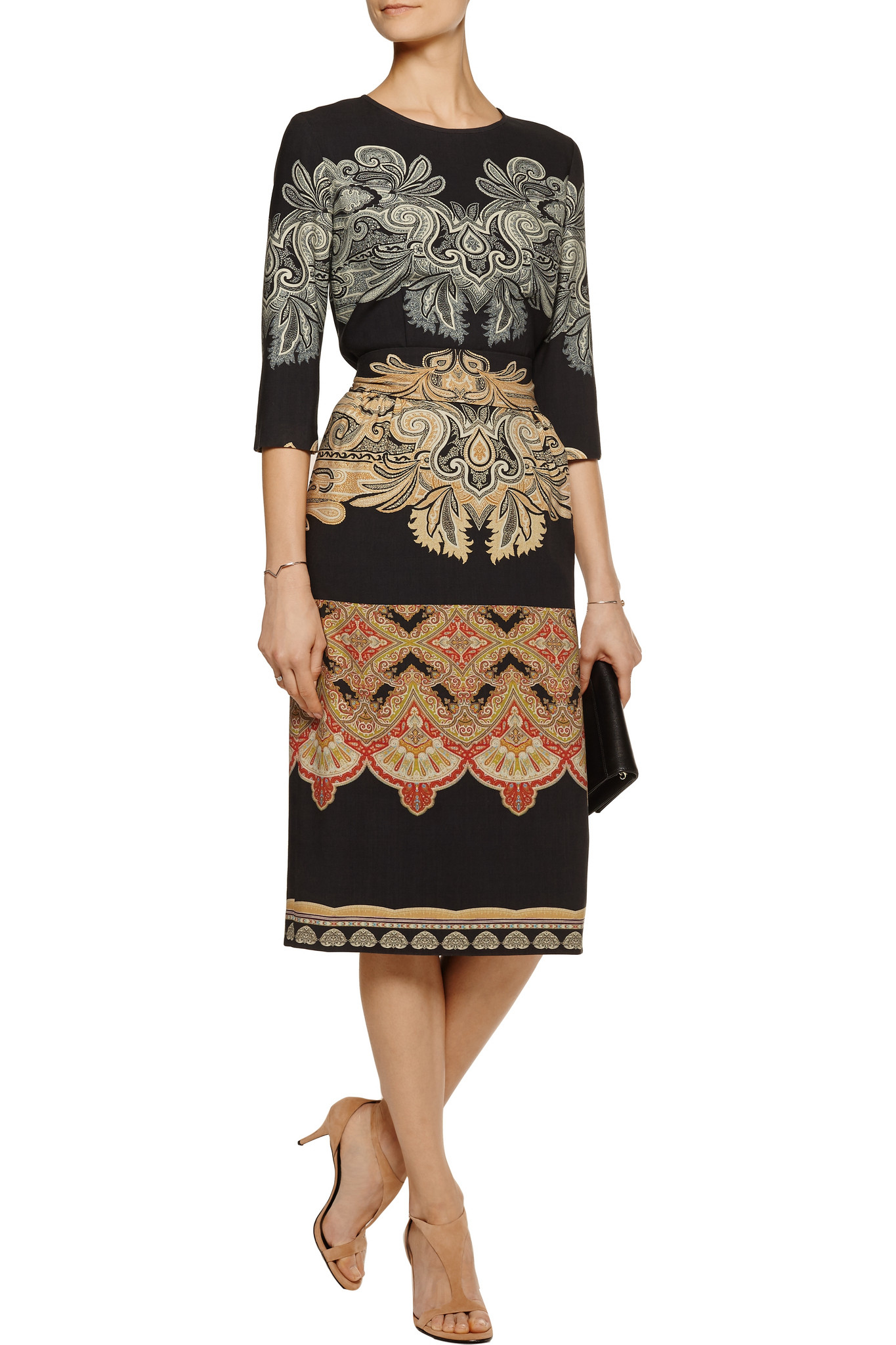 Etro printed belted dress Free Shipping View Cheap Price Outlet Sale Cheap Sale Affordable 100% Guaranteed Online EkSjiJLl