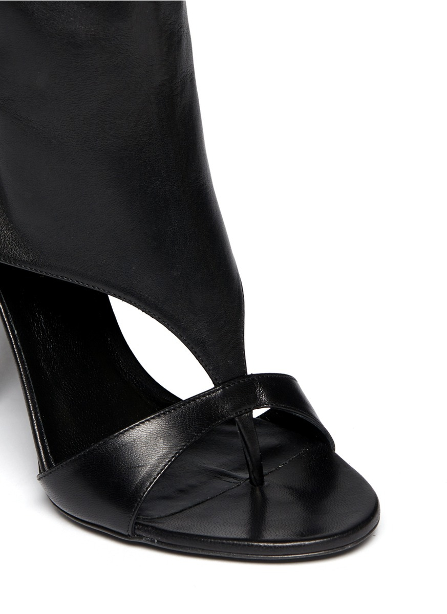 Tamara Mellon 'basic Instinct' Leather Sandal Boots in Black