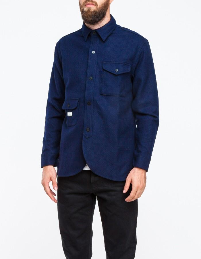 Lyst Han Kjobenhavn Army Shirt In Navy In Blue For Men