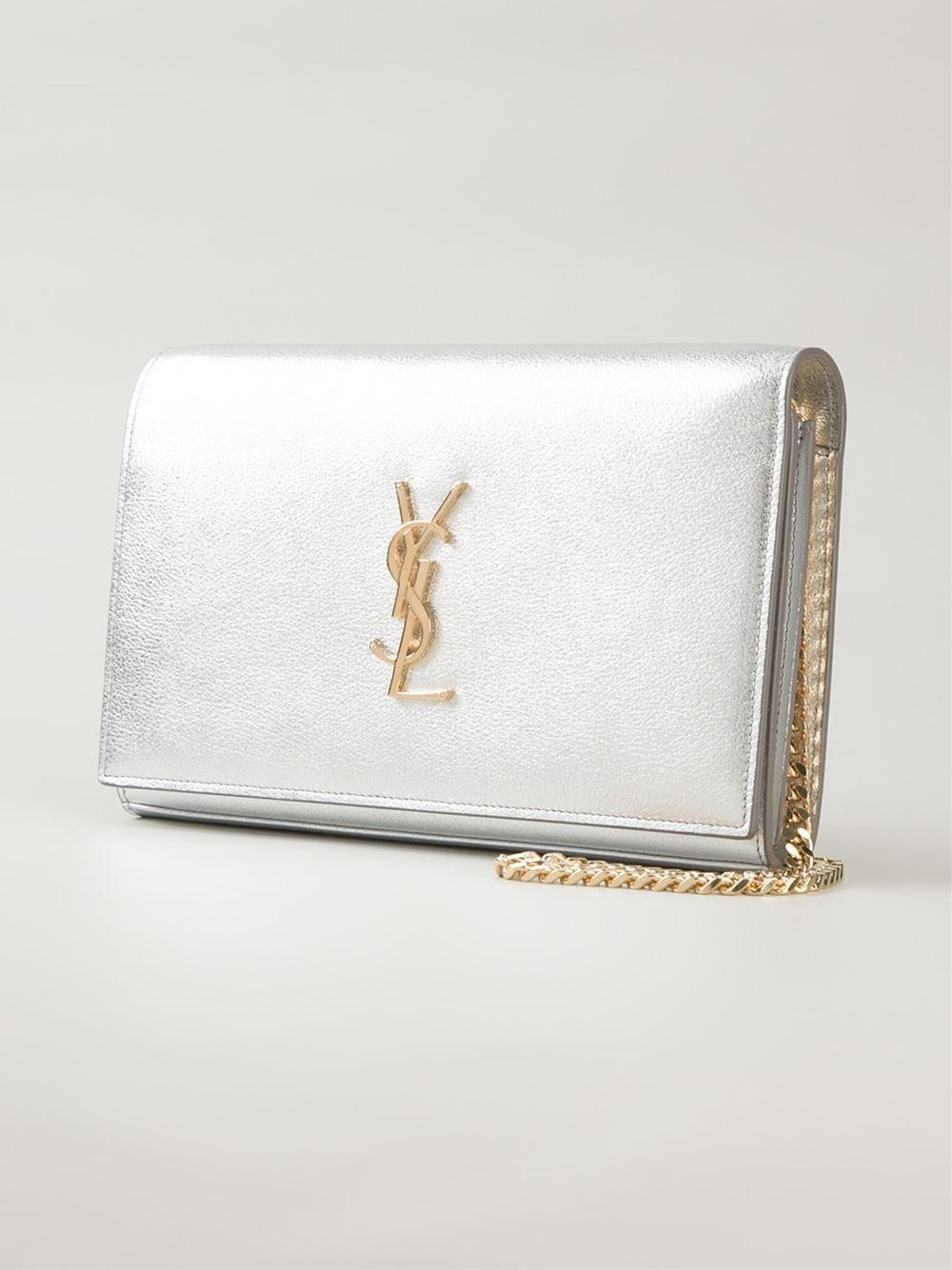 ysl bags replica - classic small kate monogram saint laurent tassel satchel in silver ...