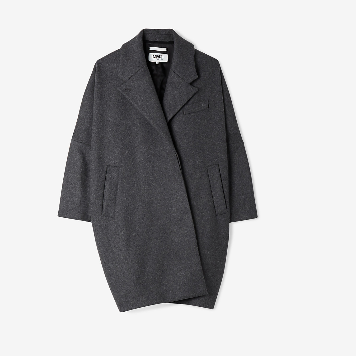 Mm6 by maison martin margiela cocoon coat in gray grey for Mm6 maison margiela