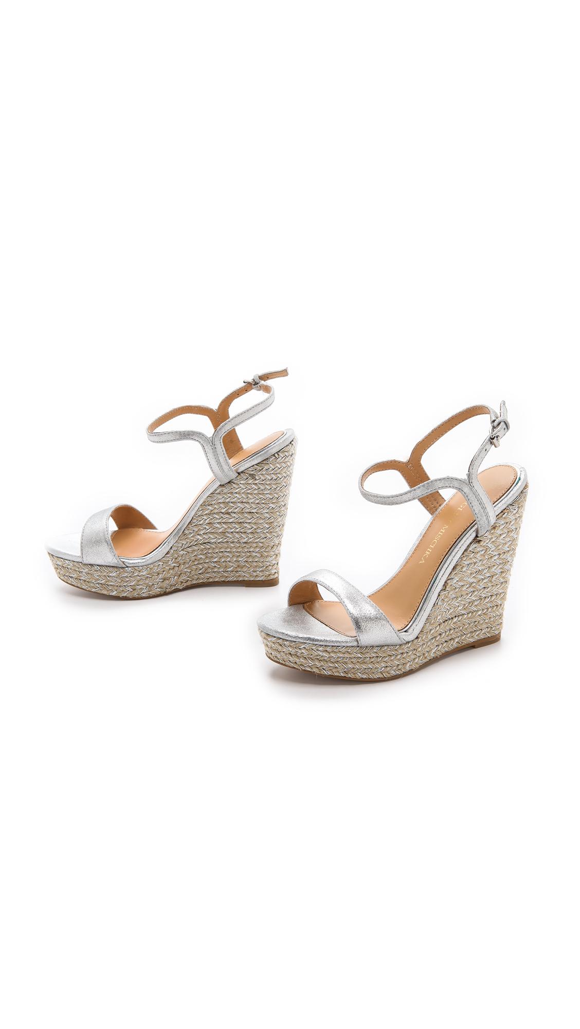 167ca9cede9 Badgley Mischka Metallic Kleo Espadrille Wedge Sandals