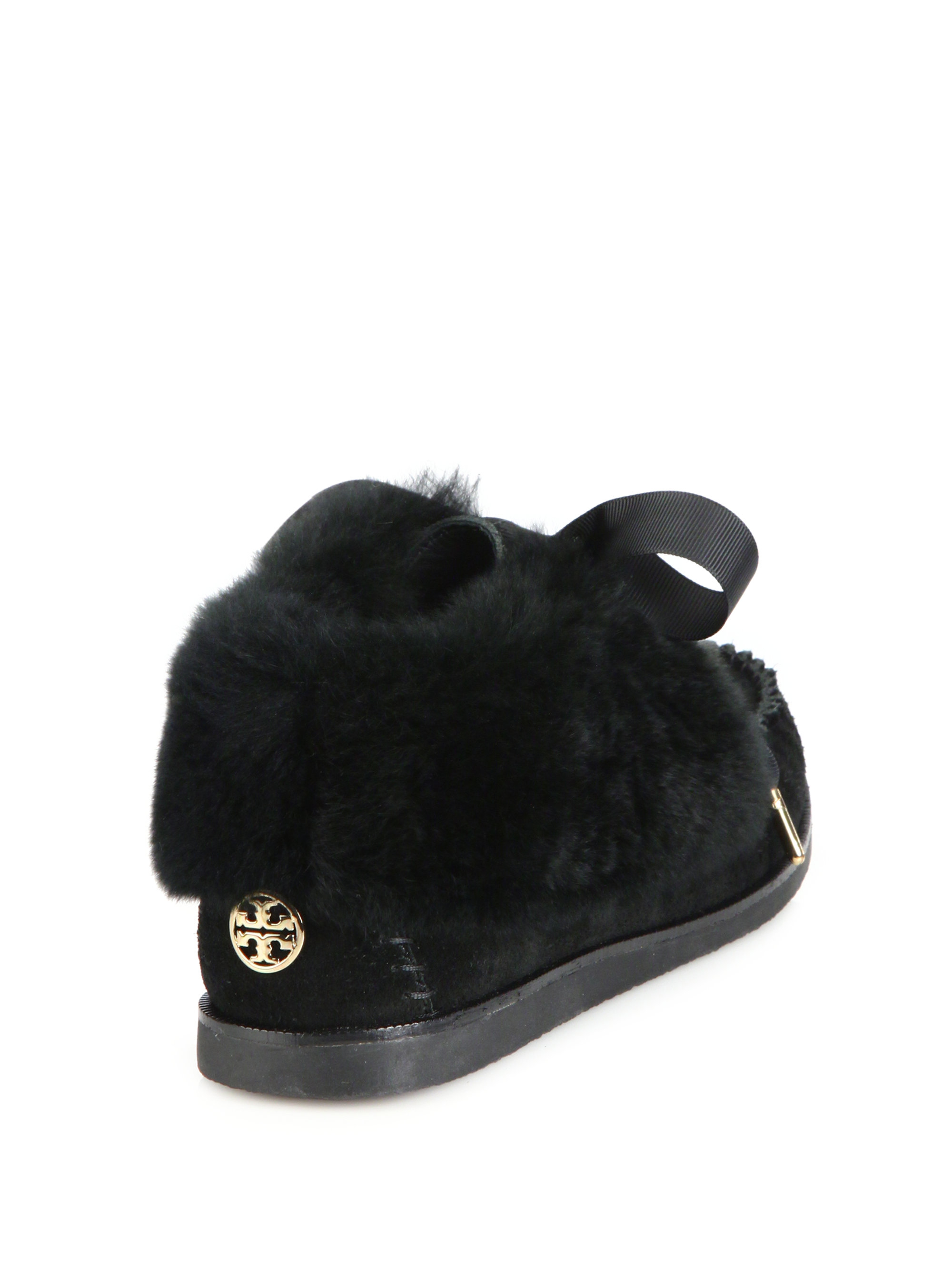 sale low shipping fee Tory Burch Aberdeen Fur-Trimmed Moccasins best online free shipping explore buy cheap amazing price ts0jAzm