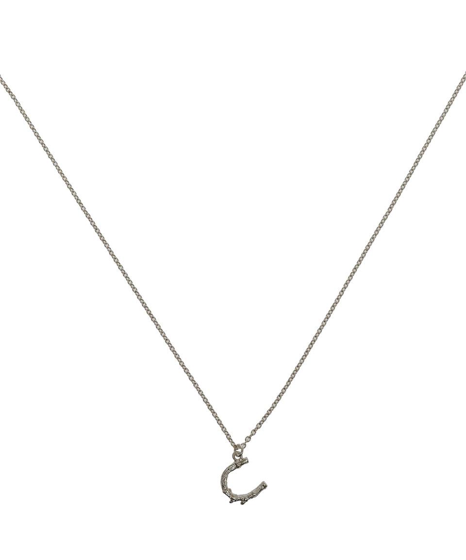 Alex Monroe Silver Little Horseshoe Necklace In Metallic