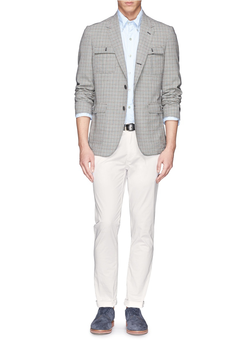 Scotch Soda Super Slim Fit Chinos In White For Men Lyst